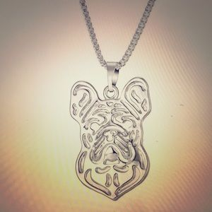 French Pug Necklace & Ring